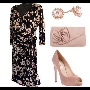Coast 3/4 sleeve midi dress size 12